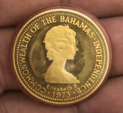 1973 Commonwealth Of The Bahamas Islands 150 Dollars 22k Gold Coin