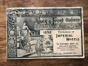 Vintage 1892 Ames And Frost Imperial Wheels Catalog Catalogue Bicycle Accessories