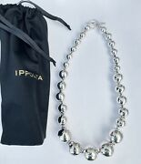 Ippolita Classico Hammered Sterling Silver Graduated Ball Necklace