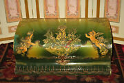 Sale Magnificent Large Antique Celluloid Vanity Box W/cherubs For Doll Display