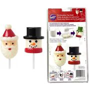 Wilson Snowman And Santa Marshmallow Pop Mold From Wilton 2115-1798 Winter Candy