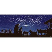 7 Ft. X 16 Ft. Nativity Oand039holy Night Christmas Garage Door Decor Mural For Doubl