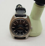 Rare 1969 Omega Constellation 18k White Gold Bezel Cal561 Auto Manand039s Watch