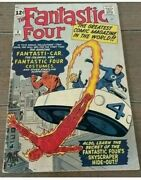 Fantastic Four 3 First Costumes March 1962 Vg Nice Copy Small Coupon Cut Out