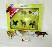 Breyer Stablemates Lot Of 10 Horses And Foals Inc. 5982 Gift Pack