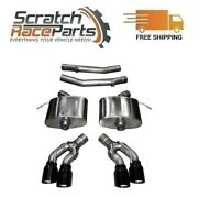 Corsa Axle-back Exhaust System Quad Rear For 16-19 Cadillac Cts 304 Ss 14358blk