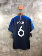 France Authentic Jersey Home Shirts 2018 Pogba6 Bnwt Size Xl