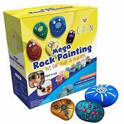 Mega Rock Painting Art Kit For Kids Adults And Families Andndash Diy Arts And Crafts...