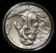 2018 Endangered Asiatic Lion The Beastandrsquos Skull 2 Oz Uhr Pure Silver Coin-niue