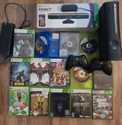 Microsoft Xbox 360 Elite 20gb Hdd Console/ Kinect 2 Controllers Games Alice