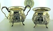 Sugar And Candy Dish Set In Sterling Silver By Fina Cr.1930.