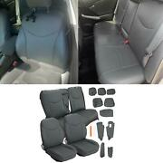 Gray Front And Rear Seat Covers Full Set Upholstery Kit For 2010-2015 Toyota Prius
