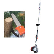 Gas Pole Chain Saw Gasoline 37cc 4stroke 140f Tree Trimming Air-cooled 7000rpm