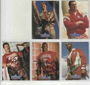 5 Nice Signed On Front San Francisco 49ers 1991 1993 Pro Line Portraits Cards