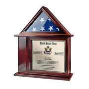 3and039x5and039 Flag Not For Burial Display Case Shadow Box W/ Certificate Holder Frame