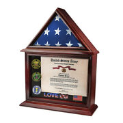 3and039x5and039 Flag Not For Burial Display Case Shadow Box W/ Certificate Holder