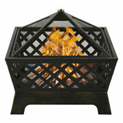 26 Outdoor Garden Fire Pit Stove Heater Patio Fire Pit Metal Fire Bowl /w Cover