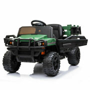 12v Kid Ride On Tractor Battery Powered Electric Truck W/ Trailer Remote Control