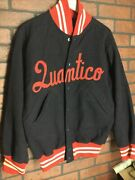 Vintage Quantico Game Used Wool Baseball Dugout Jacket Us Marine Corps By Wilson