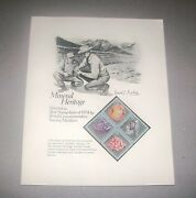 Stamp Sheet Best Stamp Issue 1974 Pcsm Mineral Heritage By L E Buckley