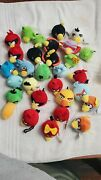 Angry Birds Lot Of 29 Mini Plush Finger Puppets Pencil Toppers Space