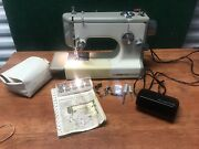 Vintage Sears Kenmore Portable Sewing Machine With Case Model 158-10400 Ruc