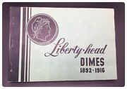Vintage Meghrig Coin Folder/book G-6 For Liberty Head Dimes From 1892-1916s