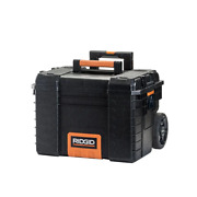 25 In. Cantilever Rolling Tool Box Heavy-duty Lockable System Retractable Handle
