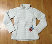 Womens S, Xl, Columbia White Out Ii Omni Heat Insulated Lightweight Jacket