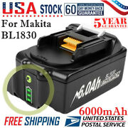18v 6.0ah Battery For Makita Lxt Bl1830 Bl1850 Bl1860 Lithium-ion Cordless Tools