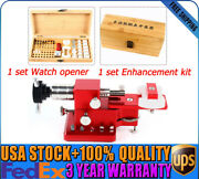Watch Case Back Crown Tube Remover Pry Type Snap On Cover Opener+enhancement Kit