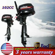6 Hp 2 Stroke Outboard Motor Boat Engine Water Cooling System Short Shaft Usa
