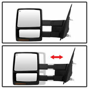 For 2008-2014 Ford F-150 Heated/turn Signal Mirror Tower Telescoping Left+right