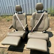 2021 Toyota Sienna Factory Seats Recliners Leather Beige Rv Sprinters Transit