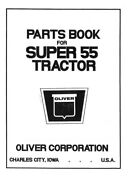 Oliver Super 55 Diesel Tractor Parts Manual With Parts Numbers