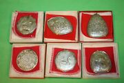 Towle Sterling Lot Of 6 Sterling Silver Christmas Cross Ornament W/boxes 23