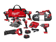Milwaukee M18 Fuel Brushless Cordless Combo Kit 5-tool With 1/2 In Impact Wren