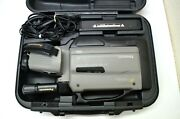 Panasonic Pro-line Vhs Reporter In Case With Power Adapter Ag-188 Grey Vintage
