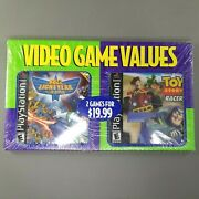 Toy Story Racer / Buzz Lightyear Of Star Command Sony Ps 1 Game Bundle - Sealed