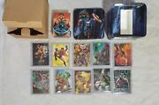 1992 Marvel Masterpieces Factory Tin W/ Set 10 Exclusive Cards - Unsealed