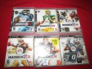 Playstation 3 Ps3 Lot 6 Madden Nfl Football 08 09 10 11 12 13 Complete