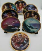 Lot Of 8 Vintage Star Trek The Movies Collector Plates With Coas Limited Edition