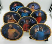 Lot Of 8 Vintage Star Trek 25th Anniversary Collector Plates With Coas Limited