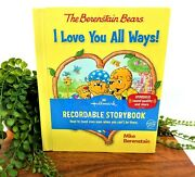 Hallmark Recordable Book Berenstain Bears I Love You All Ways Rare Collectible