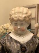 """Large Antique Low Brow China Head Doll """"helen"""""""