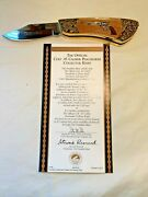Franklin Mint Collector Knives Official Colt 45 Peacemaker With Black Case And Coa