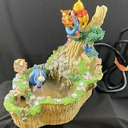 Winnie The Pooh Eeyore Tigger Table Top Water Fountain 21280 Collectible 9 In