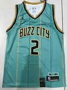 Nwt 2 Lamelo Ball 2020-21 Charlotte Hornets Menand039s Embroidered Swingman Jersey