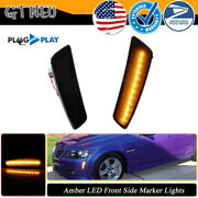 Plug And Play - Smoked Front Amber Led Side Marker Lights For 2008 2009 Pontiac G8