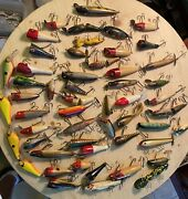Vintage Wood Fishing Lure Lot Awesome